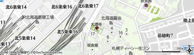 大導寺周辺の地図