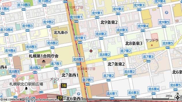 〒060-0908 北海道札幌市東区北八条東4丁目の地図