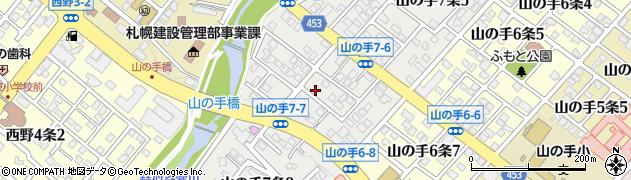 北海道札幌市西区山の手7条周辺の地図
