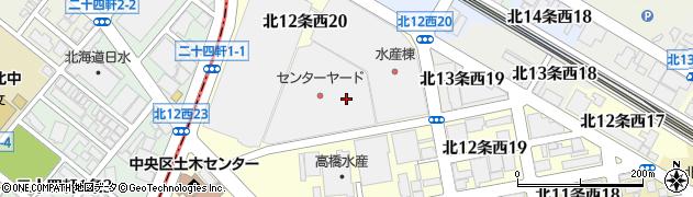 北海道札幌市中央区北12条西周辺の地図