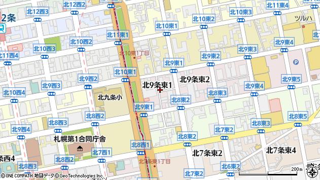 〒060-0909 北海道札幌市東区北九条東7丁目の地図