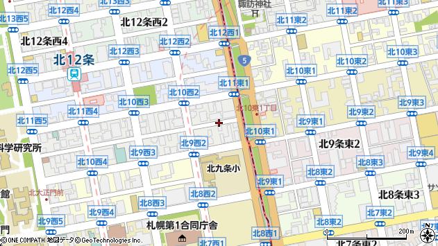 〒001-0010 北海道札幌市北区北十条西2丁目の地図