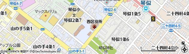 北海道札幌市西区周辺の地図