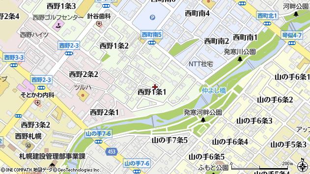 〒063-0031 北海道札幌市西区西野一条の地図
