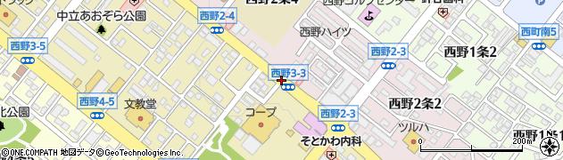 西野2‐3周辺の地図