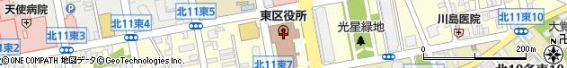 北海道札幌市東区周辺の地図