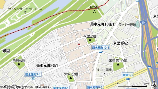 〒003-0829 北海道札幌市白石区菊水元町九条の地図