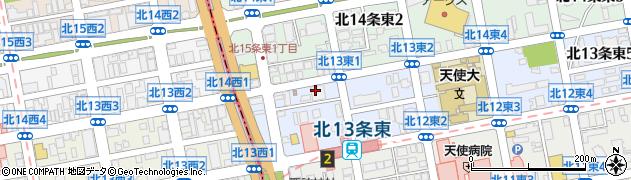 東本願寺北支院周辺の地図