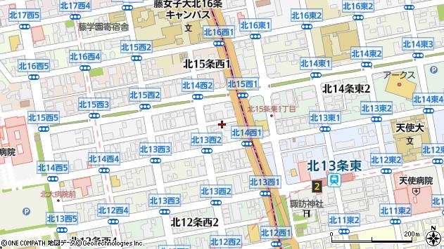 〒001-0014 北海道札幌市北区北十四条西4丁目の地図