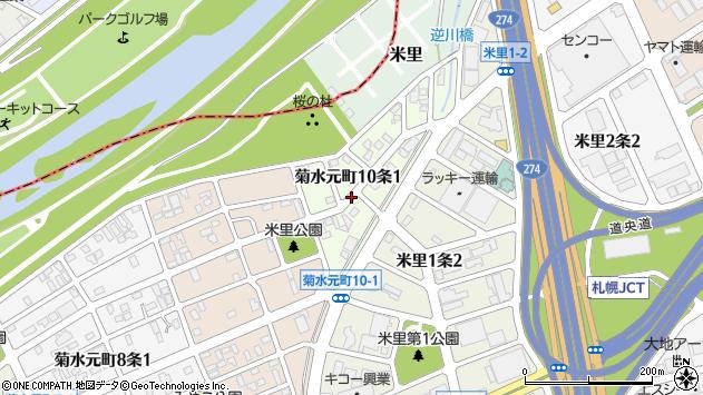 〒003-0830 北海道札幌市白石区菊水元町十条の地図