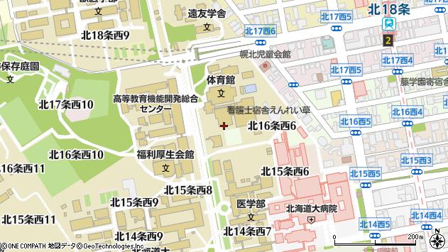 〒060-0816 北海道札幌市北区北十六条西7丁目の地図