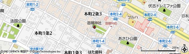 苗穂神社周辺の地図
