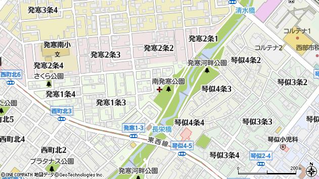 〒063-0821 北海道札幌市西区発寒一条の地図