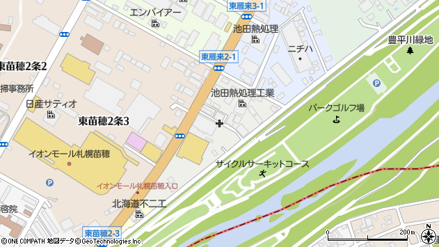 〒007-0822 北海道札幌市東区東雁来二条の地図