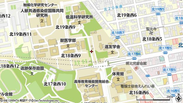 〒060-0818 北海道札幌市北区北十八条西10丁目の地図