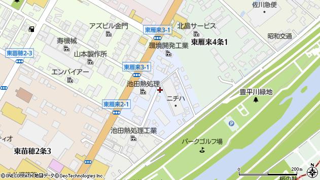〒007-0823 北海道札幌市東区東雁来三条の地図