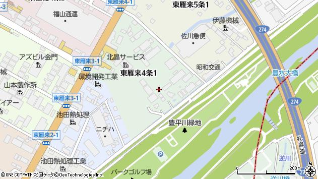 〒007-0824 北海道札幌市東区東雁来四条の地図