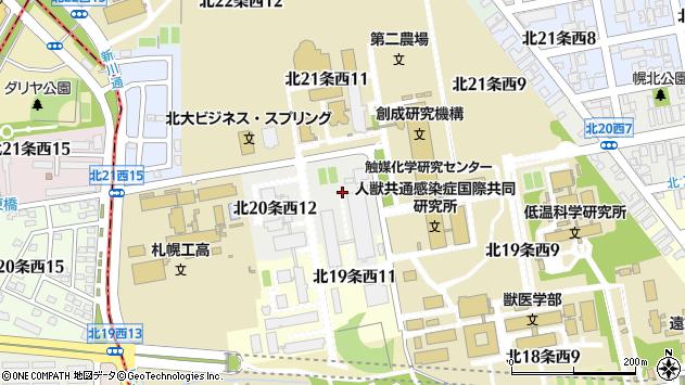 〒060-0820 北海道札幌市北区北二十条西13丁目の地図