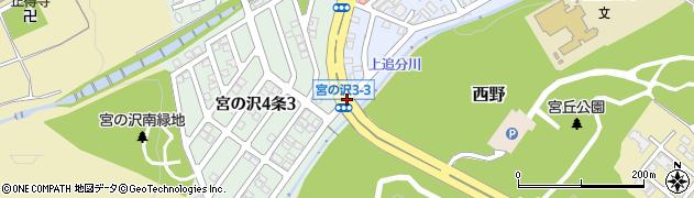 宮の沢4‐3周辺の地図