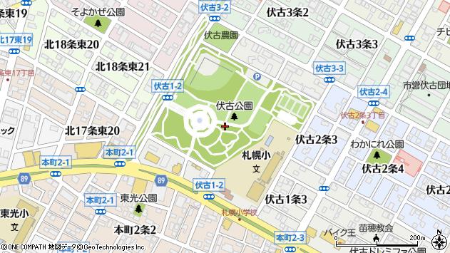 〒007-0861 北海道札幌市東区伏古一条の地図