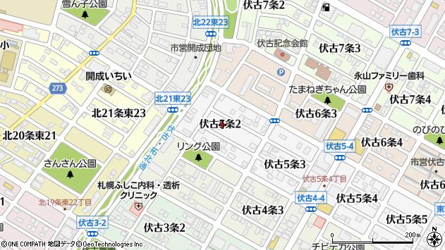 〒007-0865 北海道札幌市東区伏古五条の地図