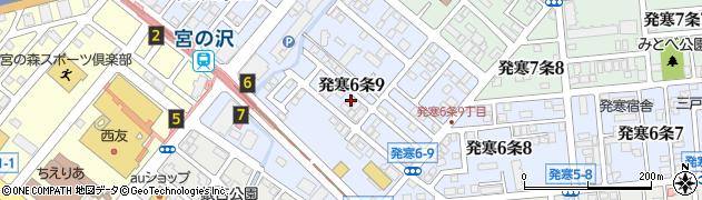 北海道札幌市西区発寒6条周辺の地図