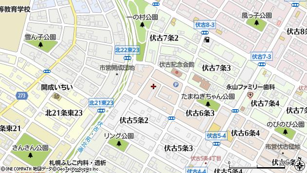 〒007-0866 北海道札幌市東区伏古六条の地図