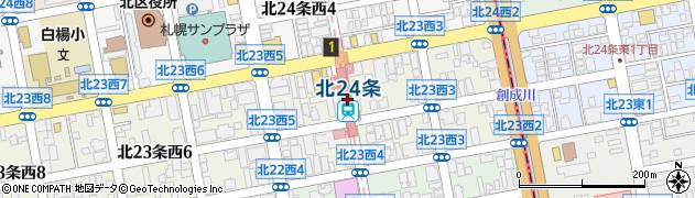 北海道札幌市北区周辺の地図