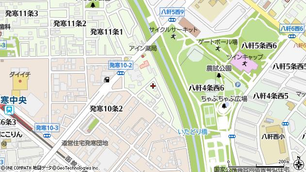 〒063-0831 北海道札幌市西区発寒十一条の地図