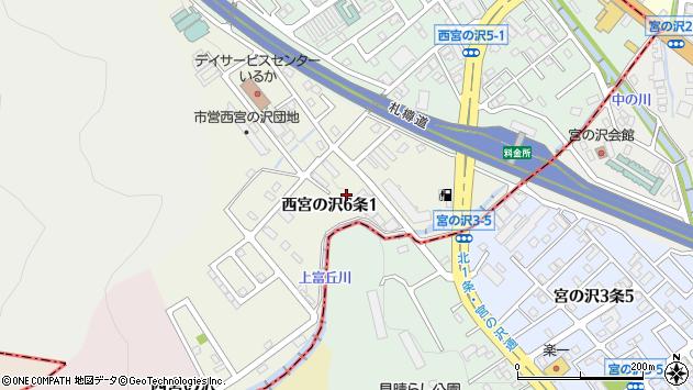 〒006-0006 北海道札幌市手稲区西宮の沢六条の地図
