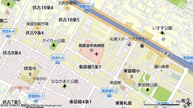 〒007-0805 北海道札幌市東区東苗穂五条の地図