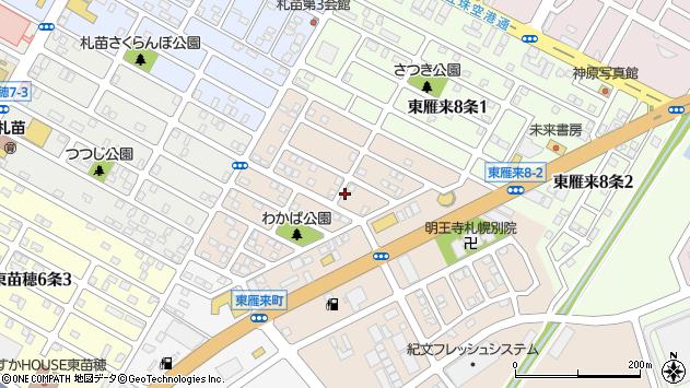 〒007-0827 北海道札幌市東区東雁来七条の地図