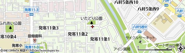 北海道札幌市西区発寒11条周辺の地図