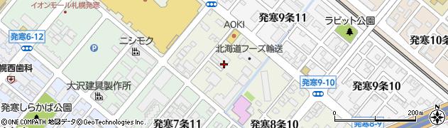 北海道札幌市西区発寒8条周辺の地図
