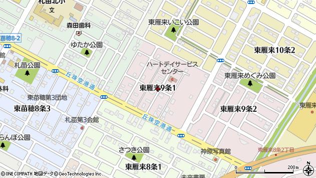 〒007-0829 北海道札幌市東区東雁来九条の地図