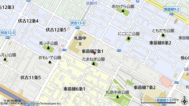 〒007-0807 北海道札幌市東区東苗穂七条の地図