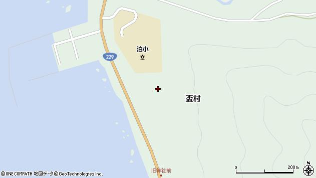 〒045-0204 北海道古宇郡泊村盃村の地図