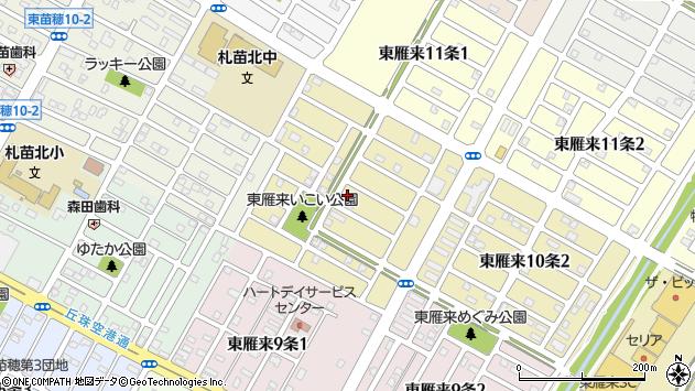 〒007-0030 北海道札幌市東区東雁来十条の地図