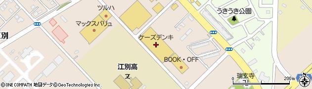 ケーズデンキ江別店周辺の地図
