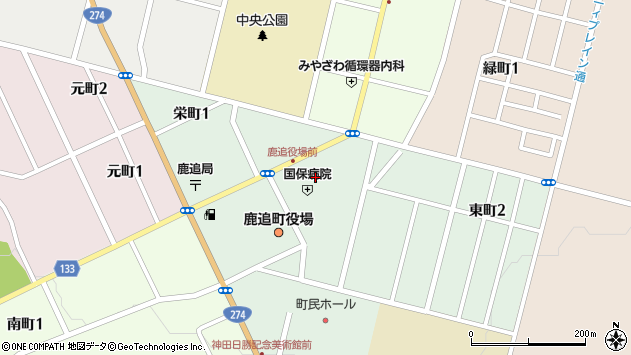 〒081-0222 北海道河東郡鹿追町東町の地図
