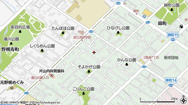 〒069-0817 北海道江別市野幌代々木町の地図