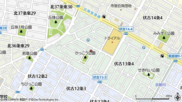 〒007-0873 北海道札幌市東区伏古十三条の地図