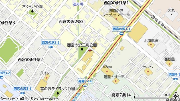 〒006-0002 北海道札幌市手稲区西宮の沢二条の地図