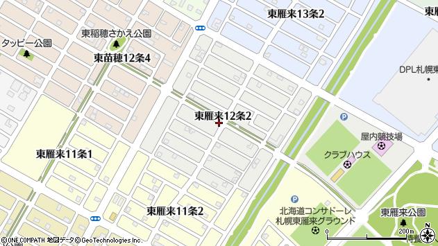 〒007-0032 北海道札幌市東区東雁来十二条の地図