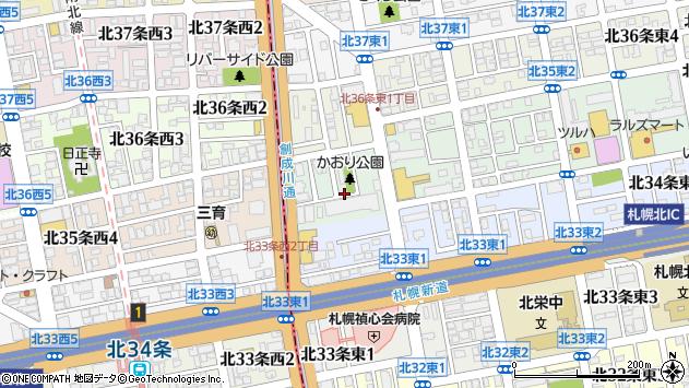〒007-0835 北海道札幌市東区北三十五条東の地図