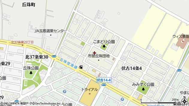 〒007-0874 北海道札幌市東区伏古十四条の地図