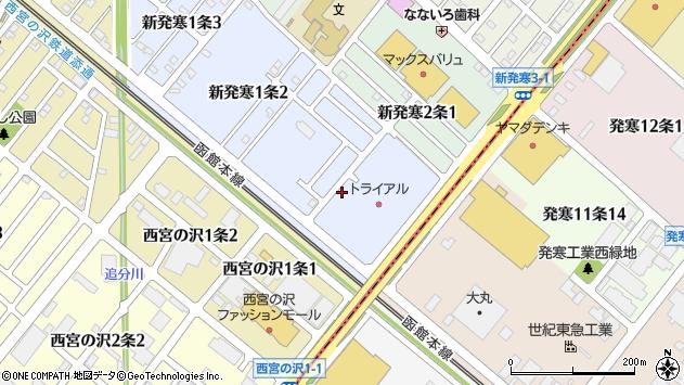 〒006-0801 北海道札幌市手稲区新発寒一条の地図