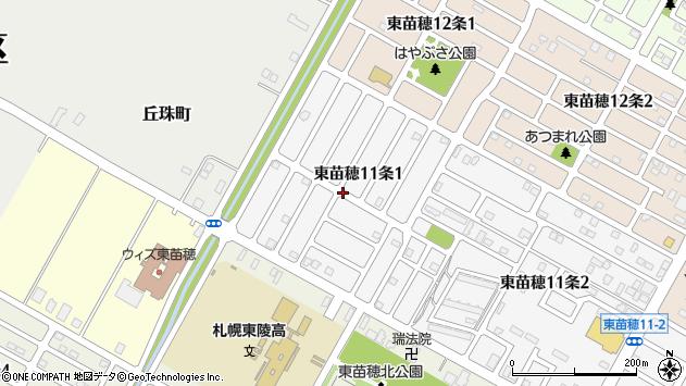〒007-0811 北海道札幌市東区東苗穂十一条の地図