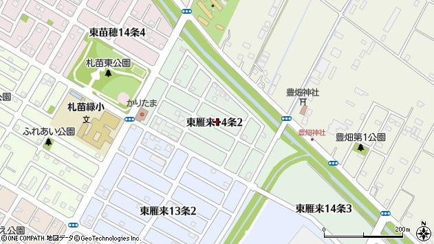 〒007-0034 北海道札幌市東区東雁来十四条の地図