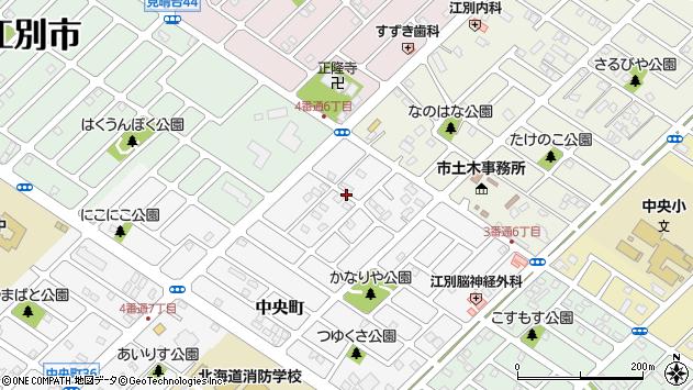 〒069-0801 北海道江別市中央町の地図